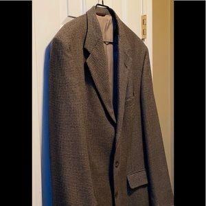 Hart Schaffer & Marx 46L brown houndstooth jacket